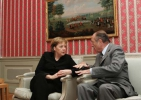 Jacques Chirac et Angela Merkel à Meseberg (23 février 2007) - Photo : © (...)